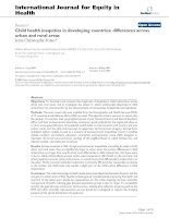 Tài liệu Child health inequities in developing countries: differences across urban and rural areas pptx