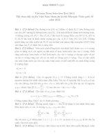 Tài liệu Đề chọn đội tuyển VN thi Olympic toán 2012 ppt