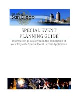 Tài liệu SPECIAL EVENT PLANNING GUIDE: Information to assist you in the completion of your Citywide Special Event Permit Application docx