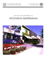 Tài liệu Americans with Disabilities Act ADA Guide for Small Businesses pptx
