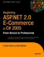 Tài liệu Beginning ASP.NET 2.0 E-Commerce in C# 2005 doc