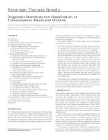 Tài liệu Diagnostic Standards and Classification of Tuberculosis in Adults and Children doc