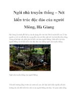 Tài liệu Ngôi nhà truyền thống – Nét kiến trúc độc đáo của người Mông, Hà Giang potx
