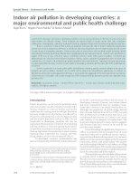 Tài liệu Indoor air pollution in developing countries: a major environmental and public health challenge doc