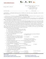 Tài liệu ĐỀ THI THỬ ĐẠI HỌC LẦN 1 NĂM 2013 Môn: Tiếng Anh ĐỀ 5 ppt