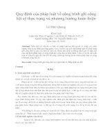 Quy định của pháp luật về công trình ghi công liệt sỹ thực trạng và phương hướng hoàn thiện