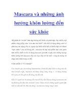 Tài liệu Mascara và những ảnh hưởng khôn lường đến sức khỏe doc