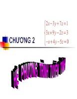Tài liệu Đại số tuyến tính - Bài 5: Hệ phương trình tuyến tính doc