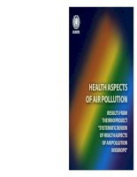 """Tài liệu HEALTH ASPECTS OF AIR POLLUTION RESULTS FROM THE WHO PROJECT """"SYSTEMATIC REVIEW OF HEALTH ASPECTS OF AIR POLLUTION IN EUROPE"""" doc"""