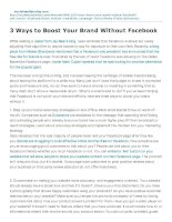 3 Ways to Boost Your Brand Without Facebook
