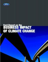 Tài liệu Ford Report on the BUSINESS IMPACT OF CLIMATE CHANGE docx