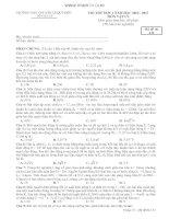 Tài liệu THI THỬ ĐỢT 1 NĂM HỌC 2012 - 2013 MÔN VẬT LÝ - TRƯỜNG THPT CHUYÊN LÊ QUÝ ĐÔN - Mã đề thi 132 pot