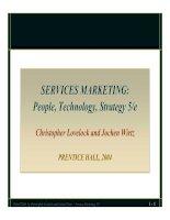 Tài liệu SERVICES MARKETING: People, Technology, Strategy 5/e Christopher Lovelock and Jochen Wirtz docx