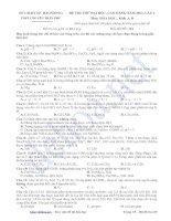 đề thi thử đại học - cao đẳng năm 2013 lần 4 môn hóa khối a, b - trường thpt chuyên trần phú (mã đề 116)