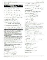 Bộ tài liệu ôn thi đại học môn toán