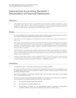 Tài liệu International Accounting Standard 1 Presentation of Financial Statements pdf