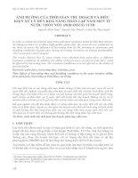 Tài liệu ẢNH HƯỞNG CỦA THỜI GIAN THU HOẠCH VÀ ĐIỀU KIỆN XỬ LÝ ĐẾN KHẢ NĂNG PHÂN LẬP NẤM MEN TỪ NƯỚC THỐT NỐT (BORASSUS) TƯƠI pptx