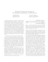 Tài liệu Semantic Integration Research in the Database Community: A Brief Survey pdf