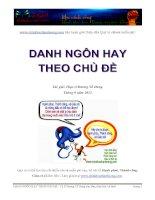 Tài liệu DANH NGÔN HAY THEO CHỦ ĐỀ – Th.S Dương Tố Dung sưu tầm, tóm lược và dịch pdf