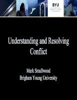 Kỹ năng giải quyết xung đột