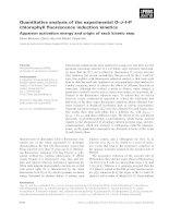 Tài liệu Báo cáo khoa học: Quantitative analysis of the experimental O–J–I–P chlorophyll fluorescence induction kinetics Apparent activation energy and origin of each kinetic step Steve Boisvert, David Joly and Robert Carpentier doc