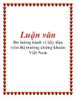 Tài liệu Luận văn: Đo lường hành vi bầy đàn trên thị trường chứng khoán Việt Nam pptx