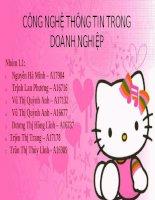 Tài liệu CÔNG NGHỆ THÔNG TIN TRONG DOANH NGHIỆP doc