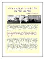 Tài liệu Công nghệ nào cho nhà máy Điện Hạt Nhân Việt Nam pot