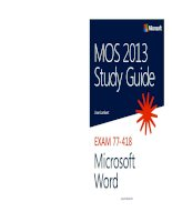 Exam 77 418 MOS 2013 study guide for microsoft word