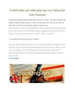 Tài liệu 5 kênh hiệu quả nhất giúp bạn học tiếng Anh trên Youtube pdf