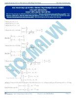 luyện thi đh vật lí - bài toán về độ lêch pha