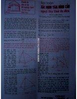 Tài liệu Bài toán xác định tâm hình cầu ngoại tiếp khối đa diện ppt