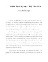 Tài liệu Tuyên ngôn Độc lập - Áng văn chính luận mẫu mực doc