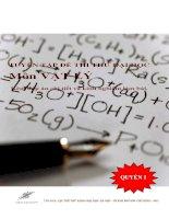 Tuyển tập đề thi thử đại học môn vật lý kèm đáp án chi tiết và kinh nghiệm làm bài