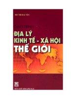 Tài liệu Giáo trình địa lý kinh tế xã hội thế giới ppt