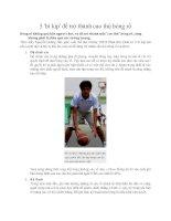 Tài liệu 5 bí kíp để trở thành cao thủ bóng rổ potx