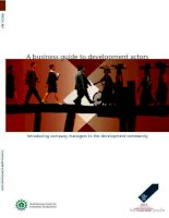 Tài liệu A business guide to development actors doc
