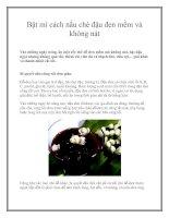 Tài liệu Bật mí cách nấu chè đậu đen mềm và không nát pptx