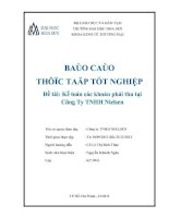 báo cáo thực tập tốt nghiệp kế toán các khoản phải thu tại công ty tnhh nielsen