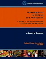 Tài liệu Marketing Food to Children and Adolescents - A Review of Industry Expenditures, Activities, and Self-Regulation docx