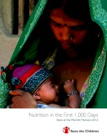 Tài liệu Nutrition in the First 1,000 Days - State of the World's Mothers 2012 ppt
