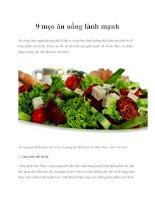 Tài liệu 9 mẹo ăn uống lành mạnh pptx