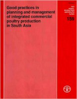 Tài liệu Good practices in planning and management of integrated commercial poultry production in South Asia ppt