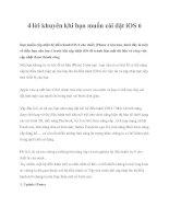 Tài liệu 4 lời khuyên khi bạn muốn cài đặt iOS 6 pot