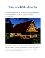 Tài liệu Những mẫu thiết kế nhà gỗ đẹp ppt
