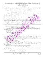 Các phương pháp giải nhanh trong hóa học - Phương pháp quy đổi