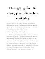 Tài liệu Khoảng lặng cần thiết cho sự phát triển mobile marketing pdf