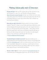 Tài liệu Những khám phá mới về Internet pdf