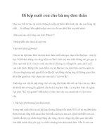 Tài liệu Bí kíp nuôi con cho bà mẹ đơn thân pot