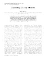 Tài liệu Marketing Theory Matters by Dawn Burton doc